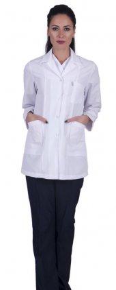 Laborteks Doktor Hemşire Önlüğü Bayan Bc 03 Tunik Boy Uzun Kol Ce
