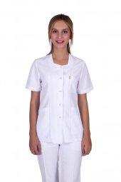Laborteks Doktor Hemşire Önlüğü Bayan Bşg 01 Kısa Boy Kısa Kol Be