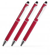 Kişiye Özel Kırmızı Metal Tükenmez Kalem (100 Adet) Model 506