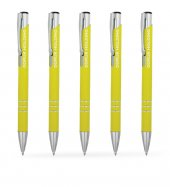 Kişiye Özel Sarı Metal Tükenmez Kalem (100 Adet) Model 133