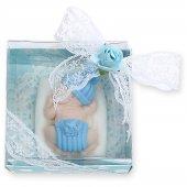 Erkek Bebek Şekeri (Yastıkta Uyuyan Ponponlu Bebek) Kokulu Sabun
