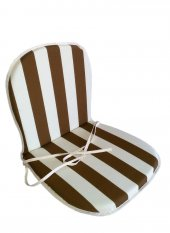 Papatya Plastik Sandalye Minderi Panama Duck Bezi Gri Sünger 114