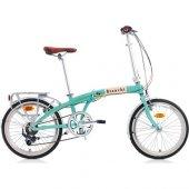 Bianchi Vintage Katlanabilir Bisiklet 20 İnch Mavi Krem 7 Vites