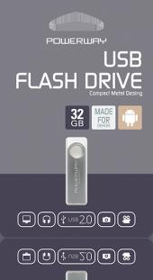 Powerway 32 Gb Flash Bellek Disk Metal