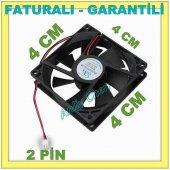 Kasa Fanı 4 Cm 12 Volt Soğutu Fan Özel Üretim 2 Pin