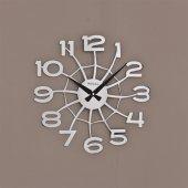 1158 S Lazer Kesim Örümcek Ağı Kromaj Duvar Saati