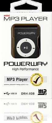 Powerway Drn X08 Mini Mp3 Player Hafızasız