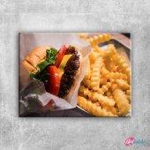 Hamburger 3 Lezzetler Kanvas Tablo Art Tablo