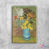 Vazo İçinde Çiçekler 18 Van Gogh, Renkli Çiçekler Kanvas Tablo