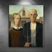 Grant Wood Çiftçi Aile Yağlı Boya Sanat Dekoratif ...