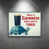 Guinness Bira Reklam Retro & Motto Dekoratif Canva...