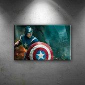 Kaptan Amerika Marvel 2 Süper Kahramanlar Dekorati...