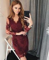 Kadın Güpür İşlemeli Elbise 2 Renk