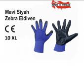 Demir Mavi Siyah Nitril İş Eldiveni İş Güvenliği 1...