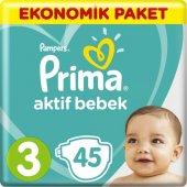 Prima Aktif Bebek 3 Numara 45 Adet Bebek Bezi