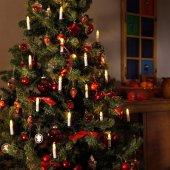 Yılbaşı Ağacı Mum Işık Ağaç Süsü Mandallı