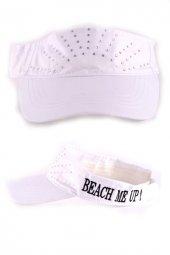 Beach Me Up Sloganlı Taşlı Şapka