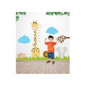 Artikel Zürafa Boy Cetveli Dev Duvar Sticker Çocuk Odası Duvar Sü