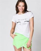 Bonalodi Sevimli Sexy Beyaz Kadın T Shirt