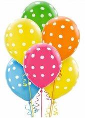 Pembe Puanlı Hediyelik Balon 100 Lü