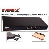 Everest Gm 160g 16 Port 1000mbps Gigabit Ethernet Switch Hub