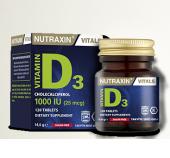 Nutraxin Vitamin D3 1000 Iu 120 Tablet Skt 04 2021...