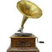 Kare Gramofon Oymalı 016