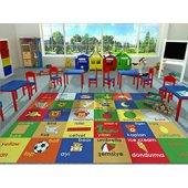 çocuk Odası Halısı Mavi Bukle 133 X 190 5 Mm