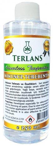 Terlans Kokusuz Terebentin 250 Ml, Odourless Turpentine Oil