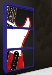 Evbox 3lü Gitar Baskılı Metal Ayakkabılık Fa 050