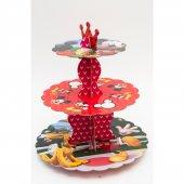 Mickey Mouse Karton Cupcake Standı (30 X 35 Cm)