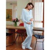 Eros 22820 Hamile Pijama Takımı Mavi