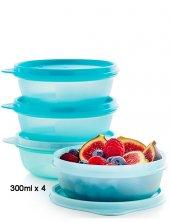 Tupperware Şeker Kaplar 4'lü Set Mavi 300ml