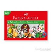 Faber Castell Su Bazlı Zıplayan Oyun Hamuru 4 Renk
