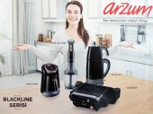 Arzum Ar 9009 Blackline 4lü Mutfak Robotu Çeyiz Seti Siyah