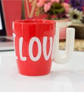 ı Love You Tasarımlı Kupa