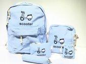 Scooter Kanvas Okul Çanta Seti