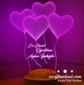 3d Led Lamba 3 Boyutlu Öğretmenler Günü Hediyesi 4 Kalp Klasik