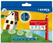 Lyra Groove Triple 3 İn 1 Boya Kalemi 12li Paket