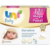 Uni Baby Sensitive Islak Havlu 12li Ekonomik Fırsat Paketi 12x56
