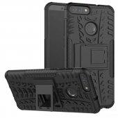 Edelfalke Huawei P Smart Hibrit Silikon Kılıf Siyah