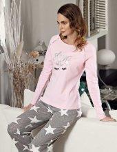 Mel Bee Yıldız Desenli Pijama Takımı Mbp23612 1