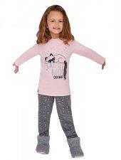 Rolypoly Kız Çocuk Kombin Somon Pijama Takımı 1366