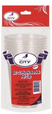 New City Şeffaf Plastik Bardak 10 Lu