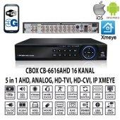 Cbox Cb 6616ahd 16 Kanal 1080 6 Ses Ahd+anlg+ıp Xmeye Hıbrıt Dvr