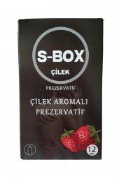 S Box Prezervatif Çilekli 12 Adet