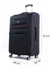 Nk 1633 Premium Serisi 4 Tekerlekli Büyük Boy Valiz Siyah