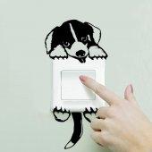 Sevimli Köpek Priz Elektrik Anahtarı Sticker Pvc Priz Yapıştırma