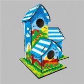 Boyanabilir Kuş Evi 21x18x29 Cm 4 Yuvalı