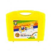Monami Pastel Boya 18 Renk Plastik Çantalı